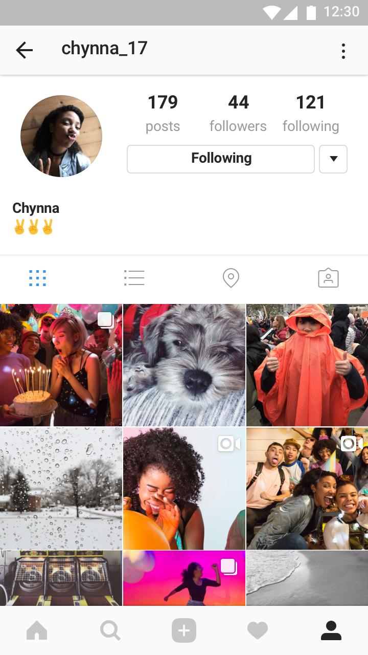 4. Instagram - Profile Icon