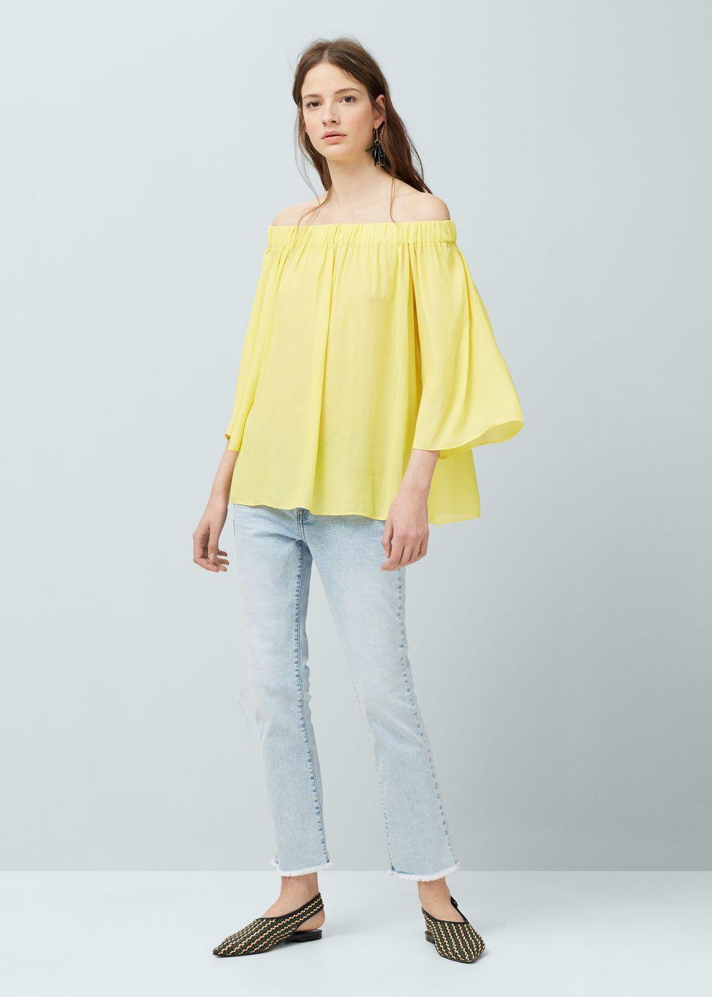 blouse jaune mango