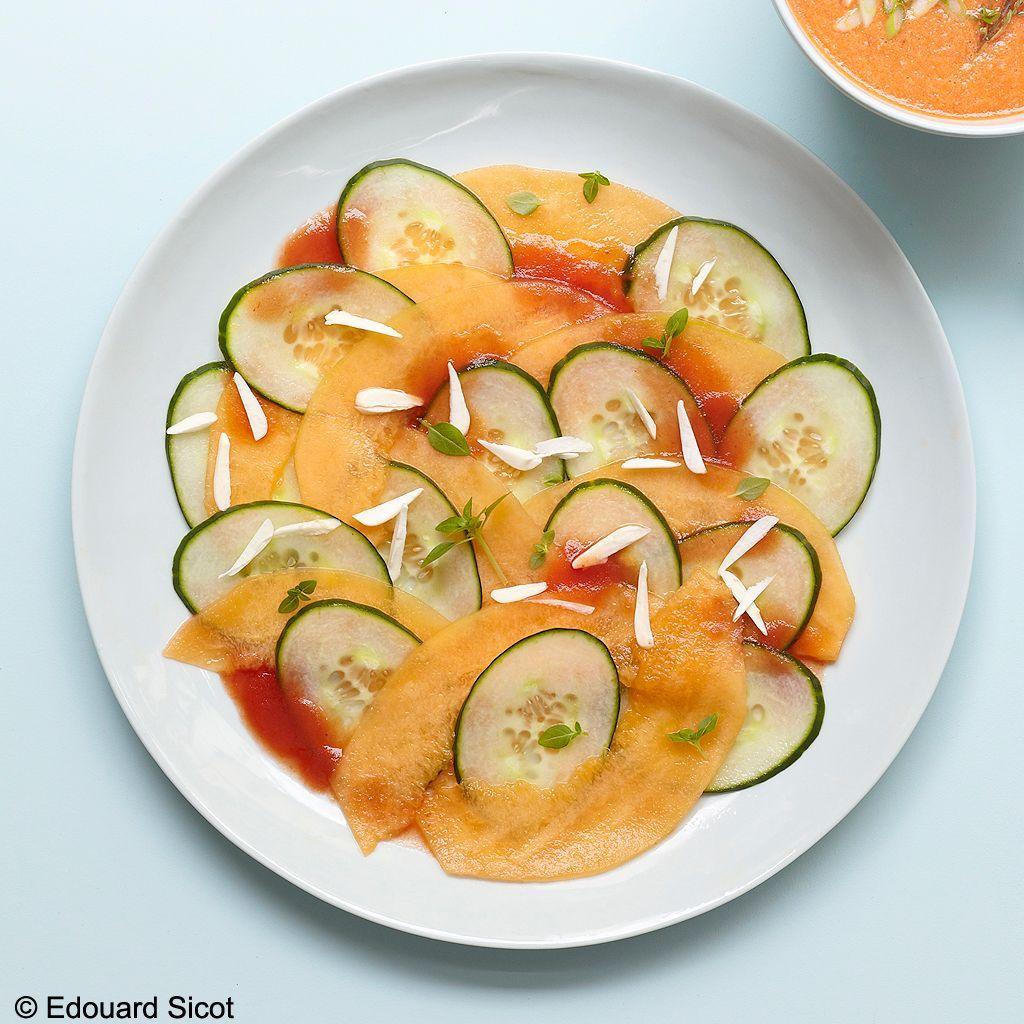 Carpaccio melon-concombre_Edouard Sicot