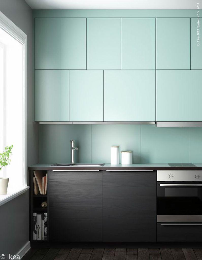 cuisine-design-bleue-marron
