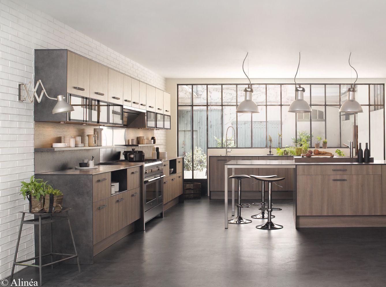 Salon Cuisine Style Industriel idées déco pour une cuisine chic et élégante - elle décoration
