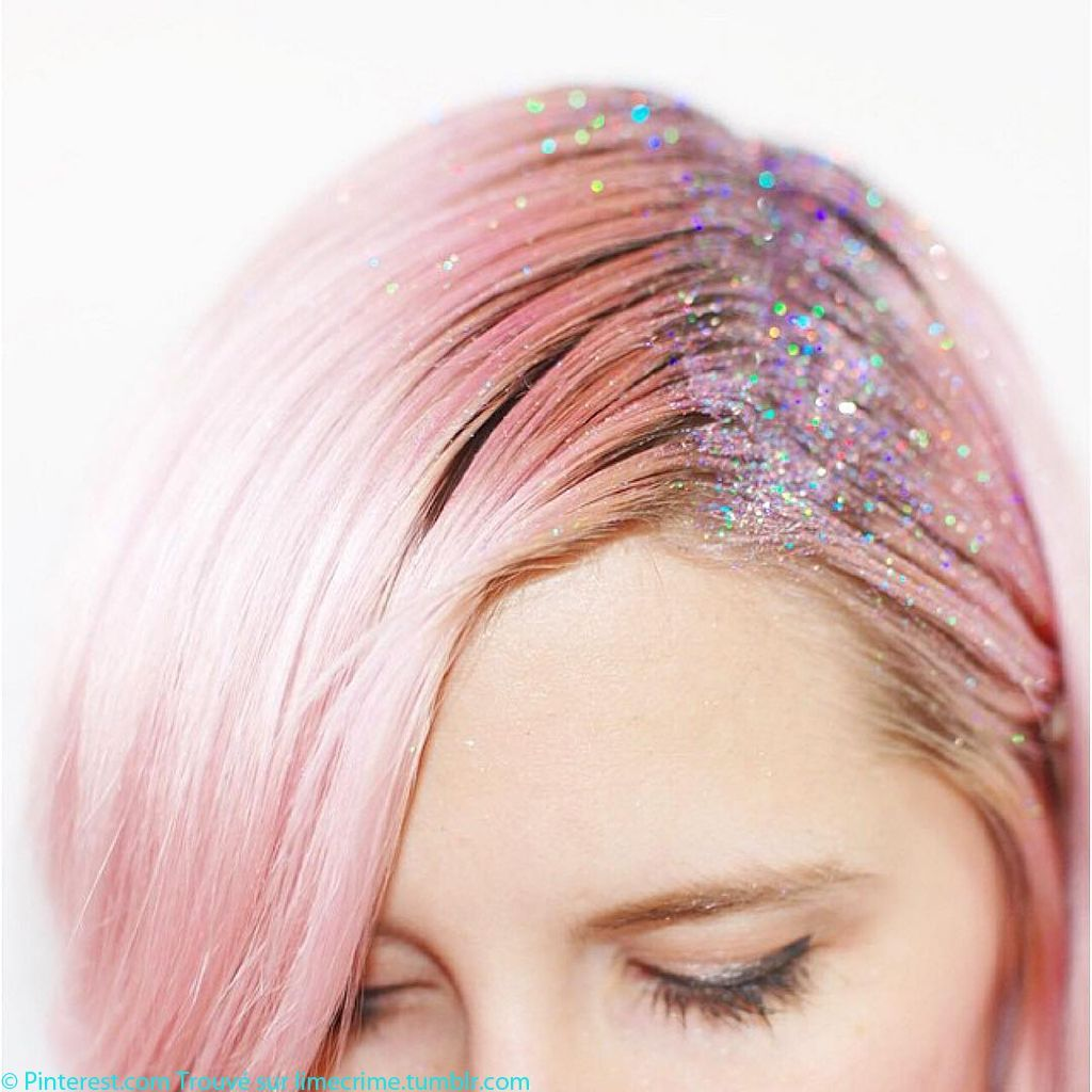 Glitter-roots-cheveux-rose