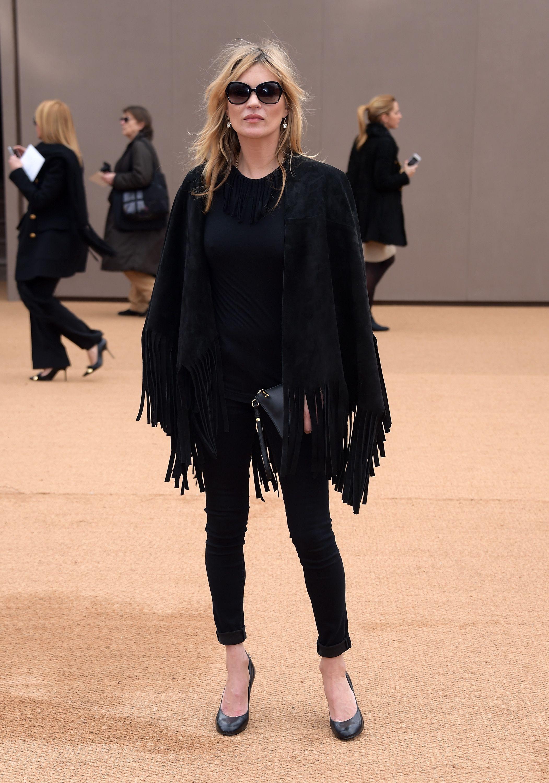 Kate Moss wearing Burberry at the Burberry Womenswear Autumn_Winter 2015 ShowJPG