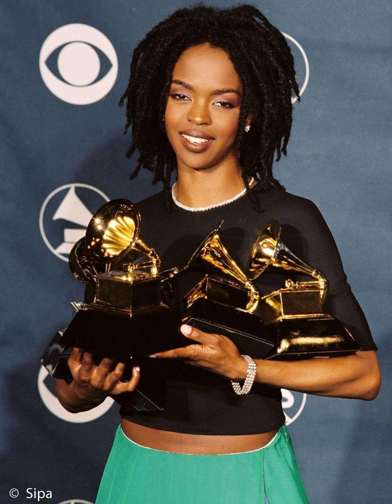 Lauryn Hill et ses cinq Grammys en 1999