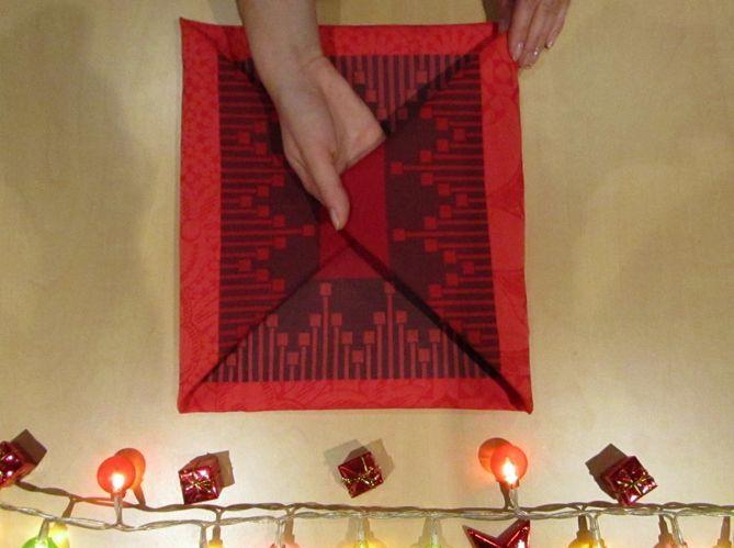 Le plus pratique : plier sa serviette comme en écrin pour ses couverts (image_3)