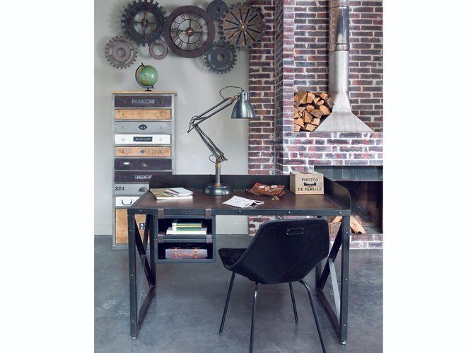 Retro industrieel chambre americaine idee creeks decoration bureau