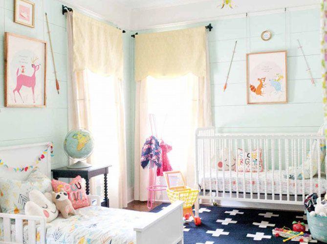 Leçon de déco : comment aménager une chambre partagée par bébé et l ...