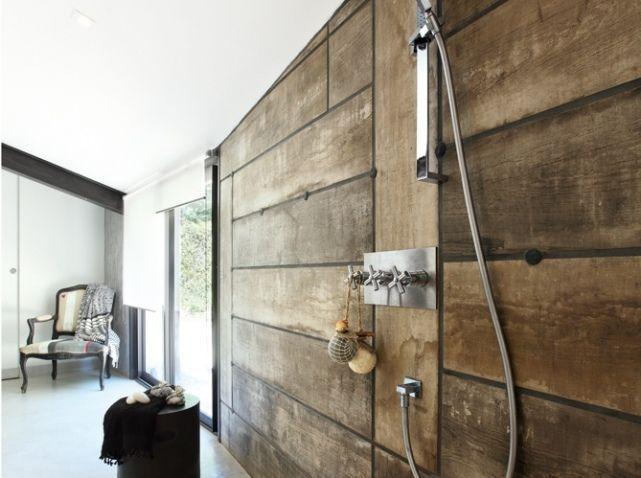 Leçon De Déco Comment Créer Un Effet Bois Au Mur Elle Décoration