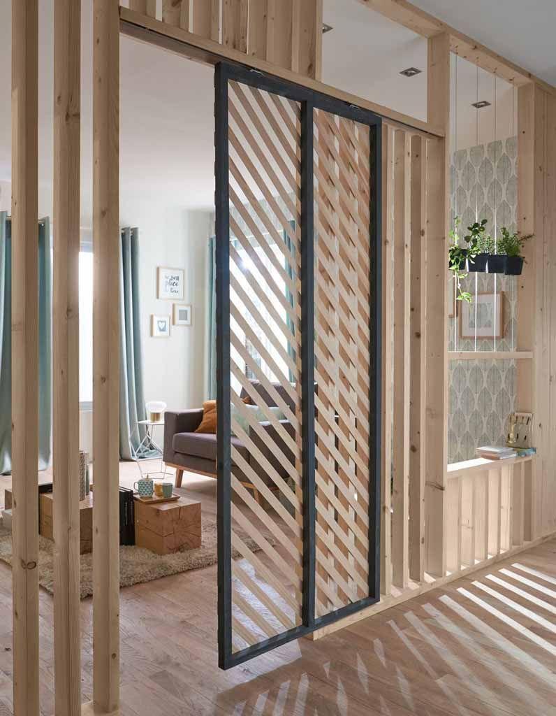 Porte Separation Salon Cuisine porte coulissante : 5 idées pour l'adopter - elle décoration