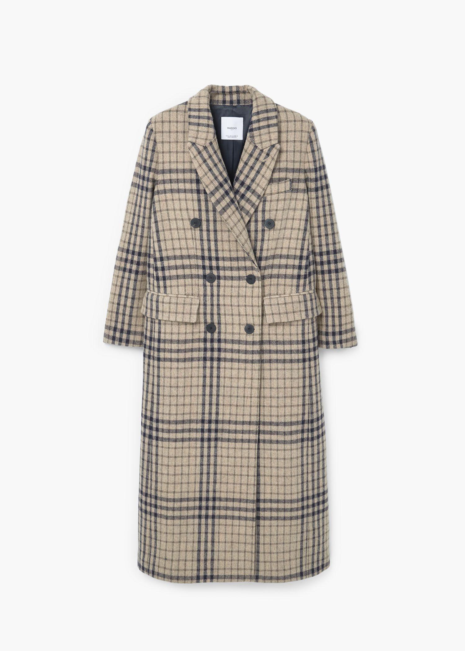 Manteau long Mango à shopper