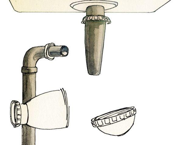 Nettoyer et remonter le siphon d'un lavabo (image_2)
