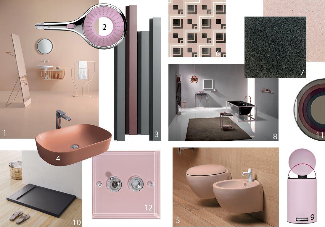 Amazing Salle De Bain Rose Poudre De Design Photos Et Id Es