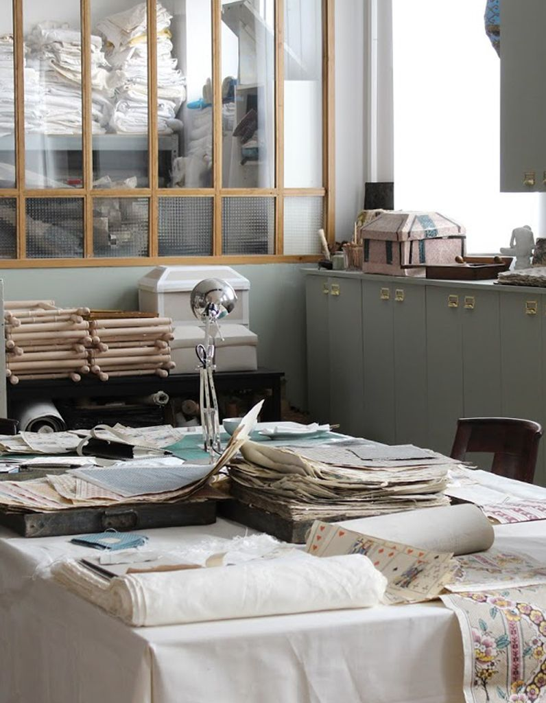 Papier Peint Style Atelier antoinette poisson, un papier peint pas ordinaire - elle