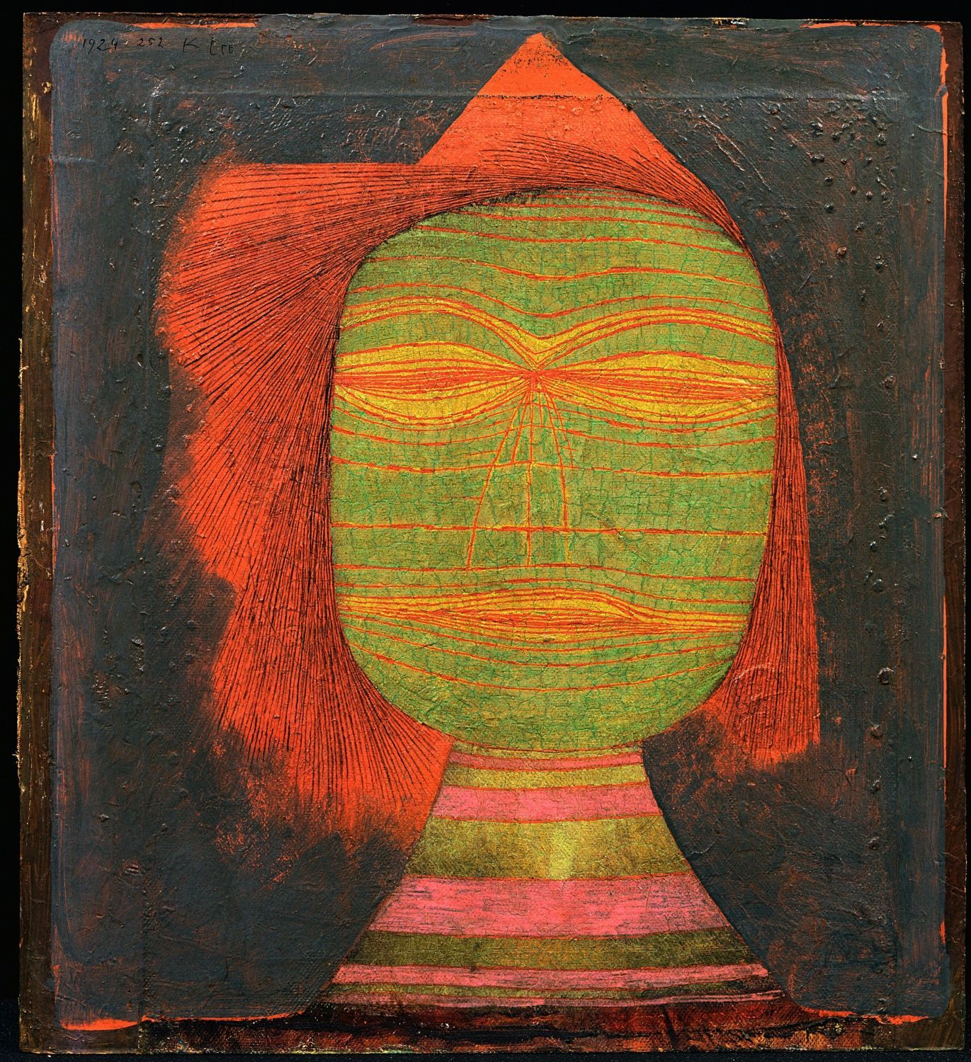 PAUL KLEE SCHAUSPIELER MASQUE COMEDIEN 1924 THE MUSEUM OF MODERN ART NY THE SIDNEY AND HARRIET JANIS COLL 2016 DIGITAL IMAGE THE MOMA SCALA FLORENCE