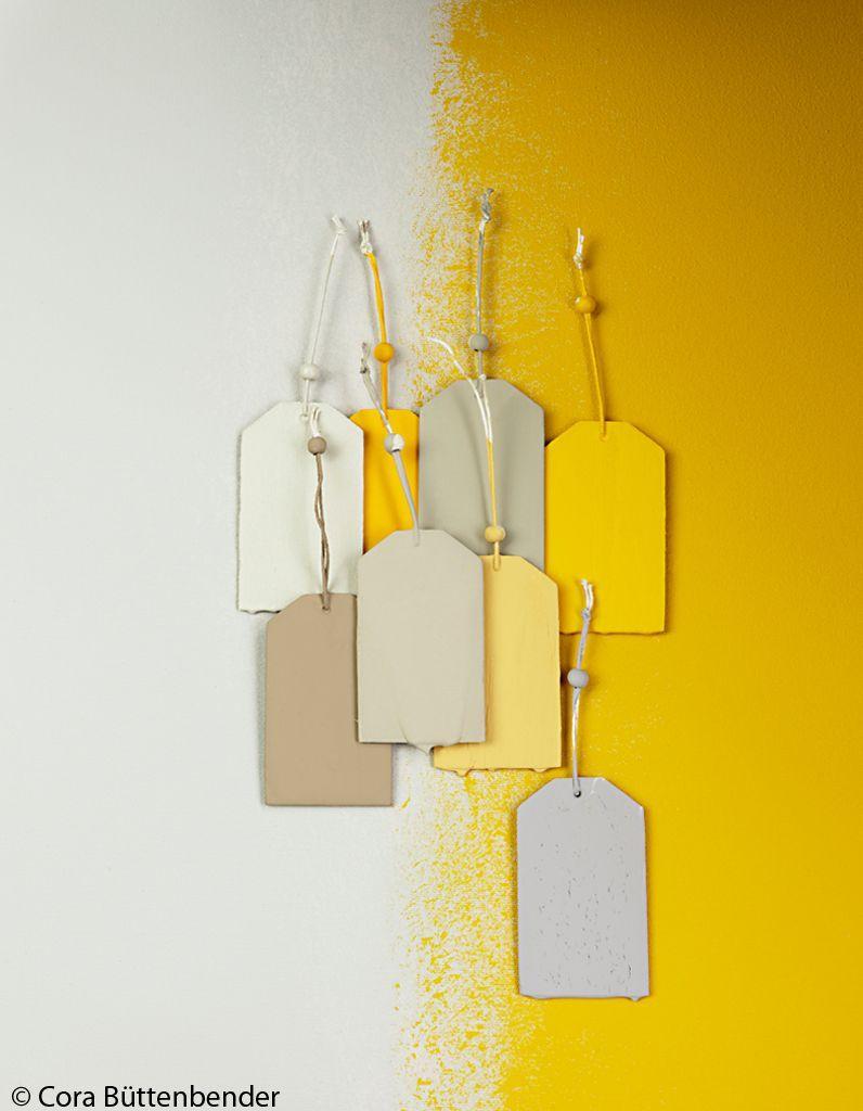 peinture jaune et grise