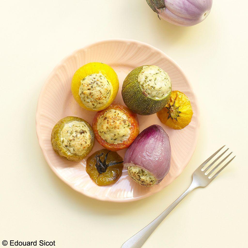 Petits légumes farcis au poulet_Sicot