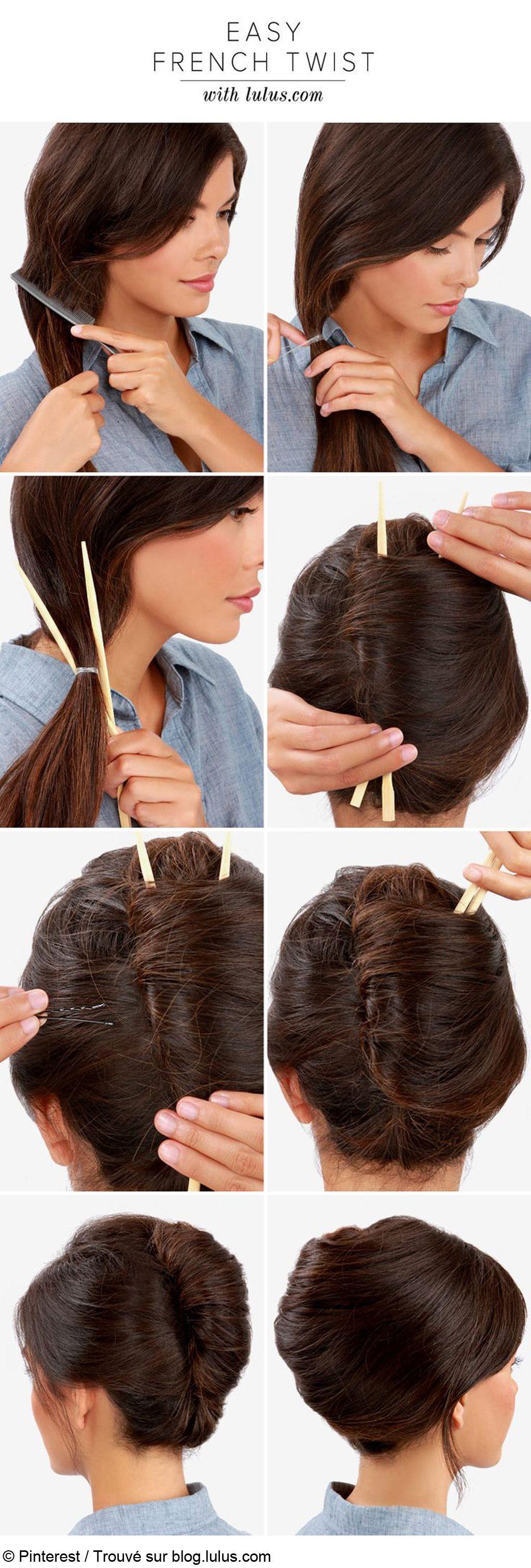 Comment faire chignon avec cheveux tres longs