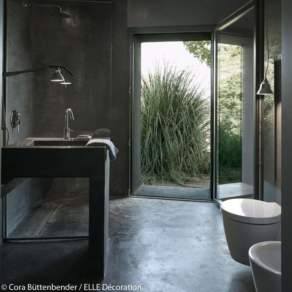 salle de bains béton