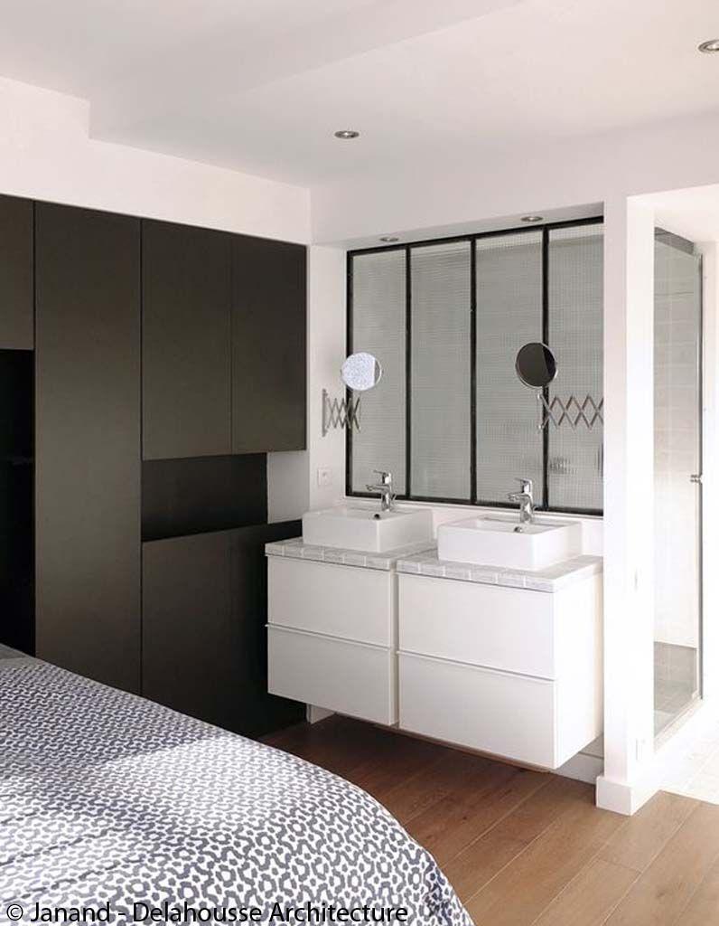salle de bains suite parentale comment am nager une salle de bains dans sa chambre elle. Black Bedroom Furniture Sets. Home Design Ideas