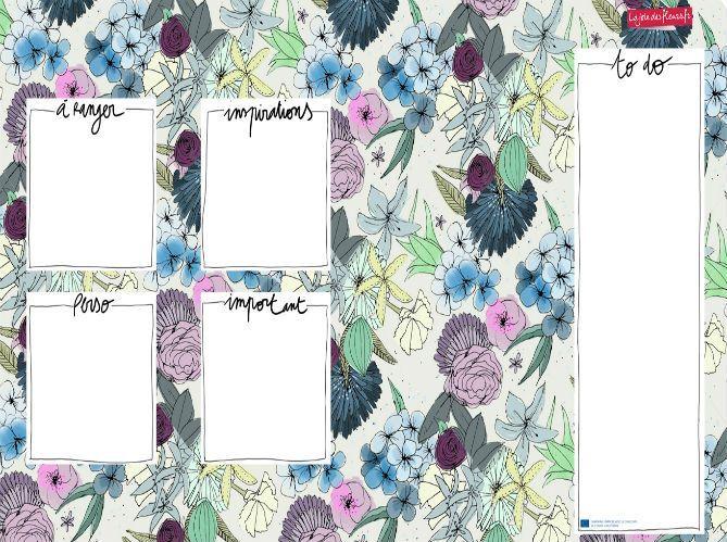 Téléchargez votre fond d'écran organiseur La joie des fleurs (image_2)