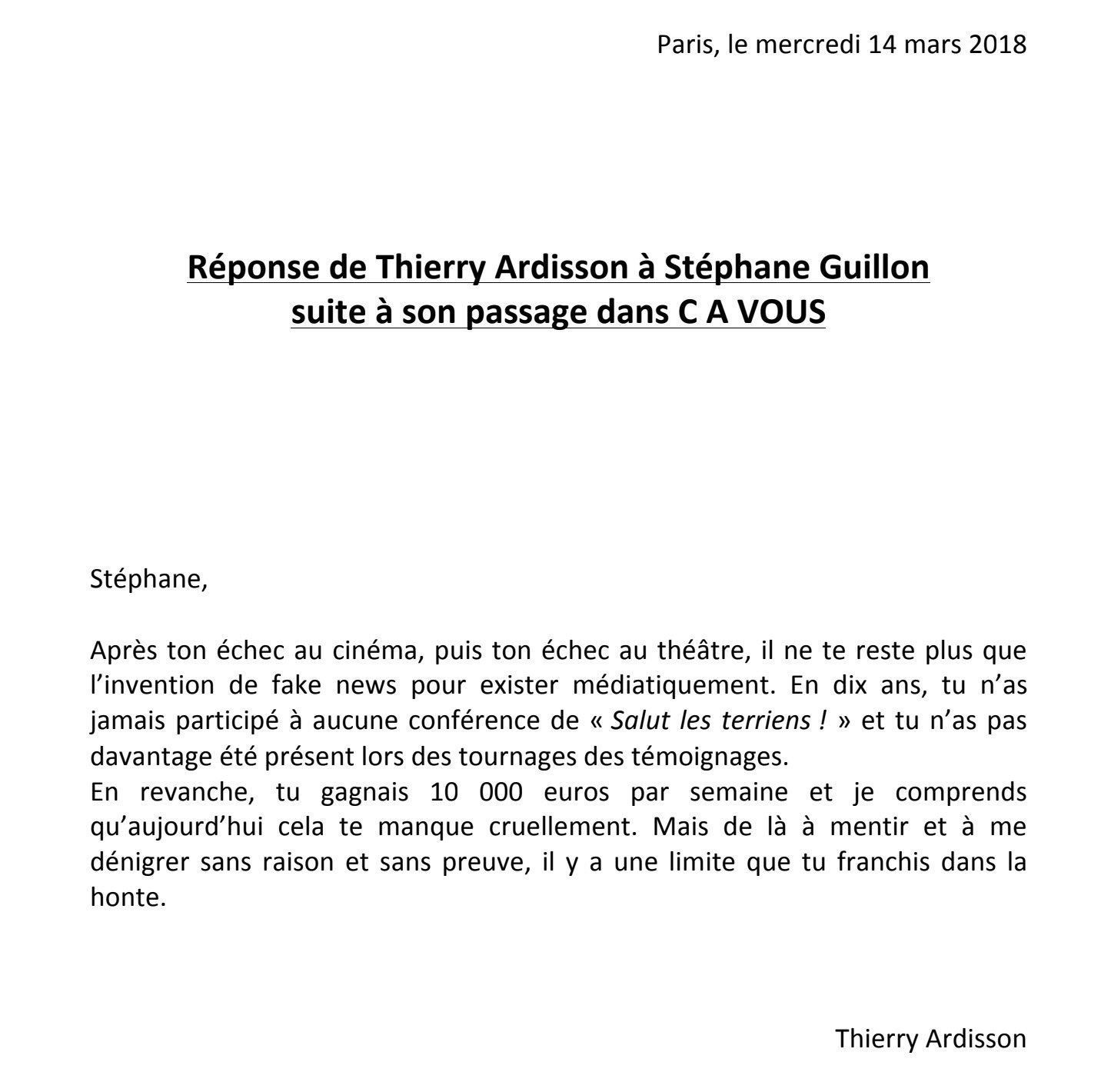 thierry ardisson clashe stephane guillon