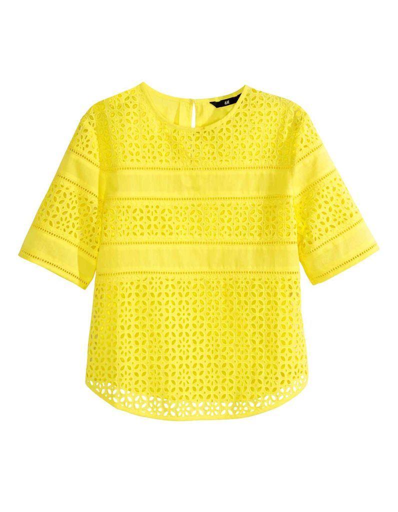 top-brodé-jaune