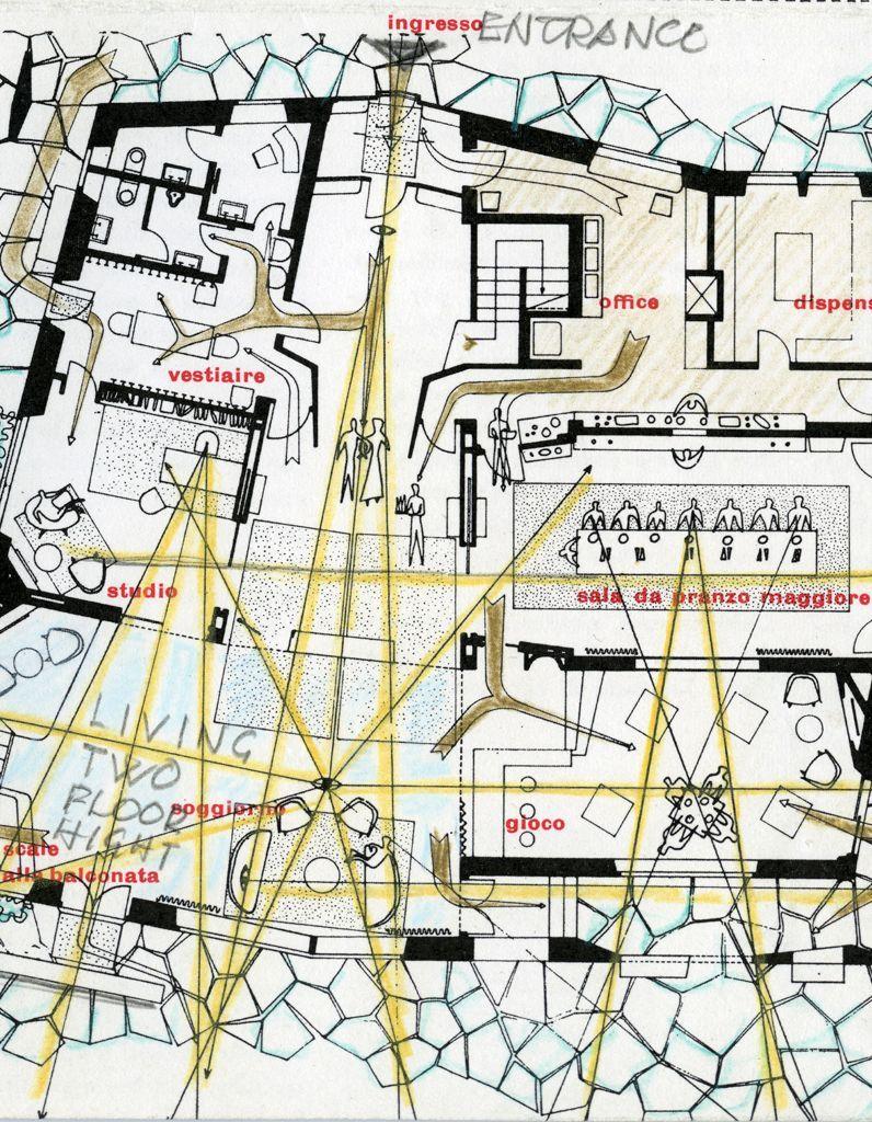 Un plan de la villa Nemazee
