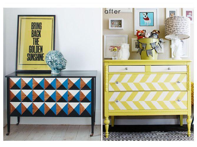 Comment relooker ses meubles de famille elle d coration - Peindre une porte en bois deja peinte ...