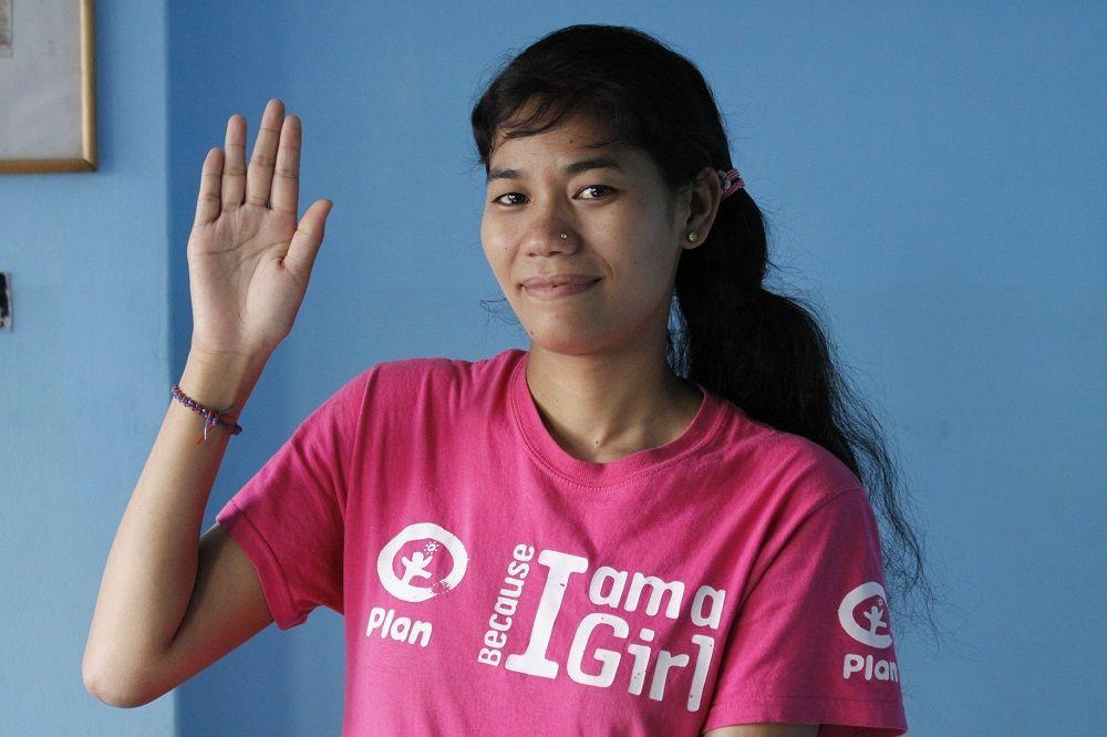 Urmila Chaudhary, ambassadrice de la campagne pour l'éducation des filles © Plan International