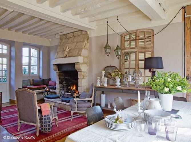 Maison en Normandie : une déco chic et classique - Elle Décoration