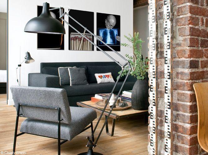 Un beau loft new-yorkais à Paris