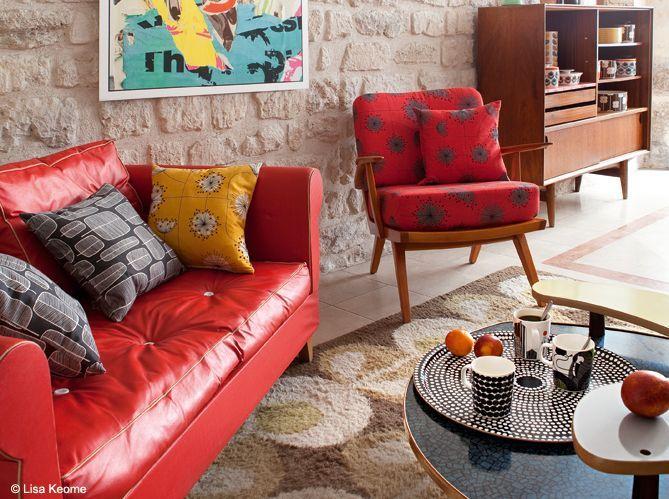 Un salon style années 50, c'est top tendance !