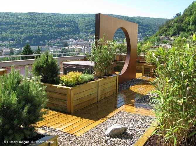 Avant-après : une terrasse zen en plein Jura - Elle Décoration