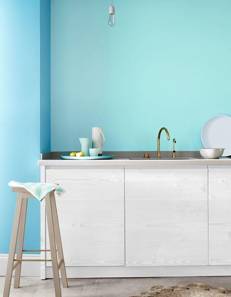 Cuisine bleue decouvrez toutes nos inspirations elle for Couleur bleu canard deco 6 cuisine bleue je fonds pour une cuisine bleue elle