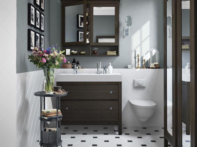 45 id es d co pour la salle de bains elle d coration - Salle de bain design ikea ...