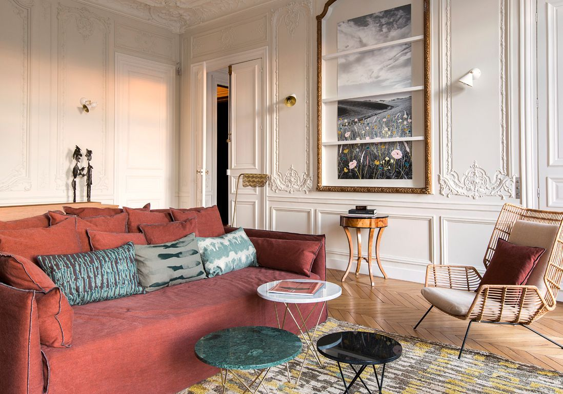 appartement haussmannien comment d corer un appartement haussmannien elle d coration. Black Bedroom Furniture Sets. Home Design Ideas