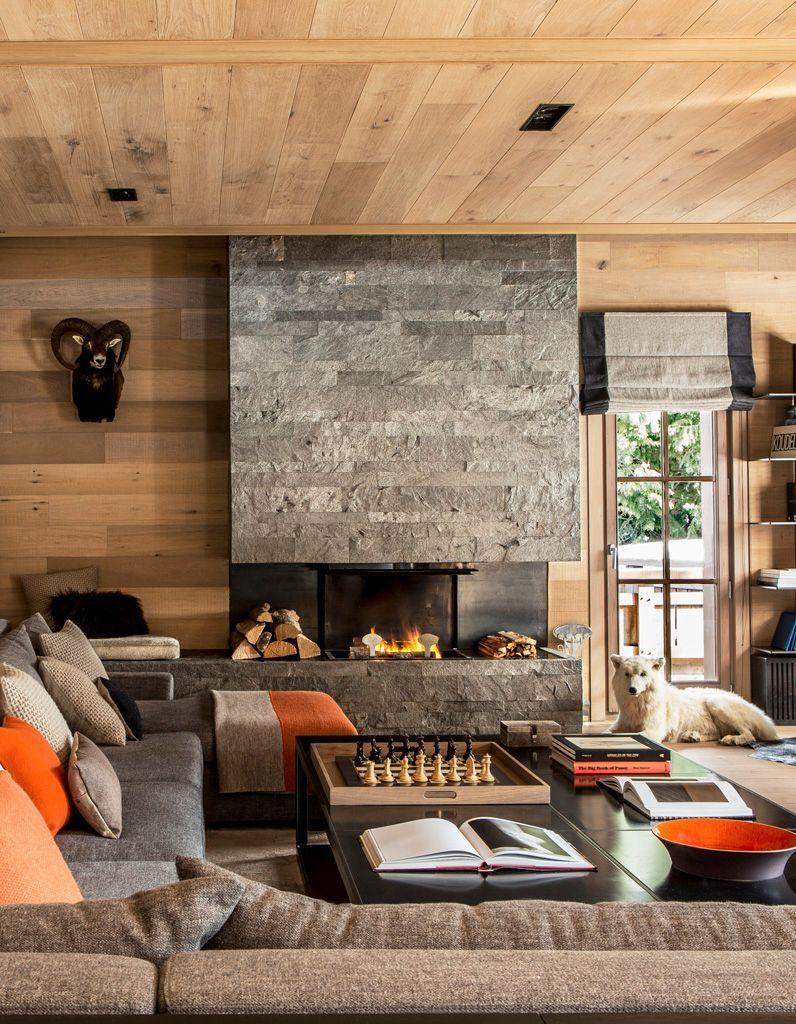 un chalet typique mais ultra design elle d coration. Black Bedroom Furniture Sets. Home Design Ideas
