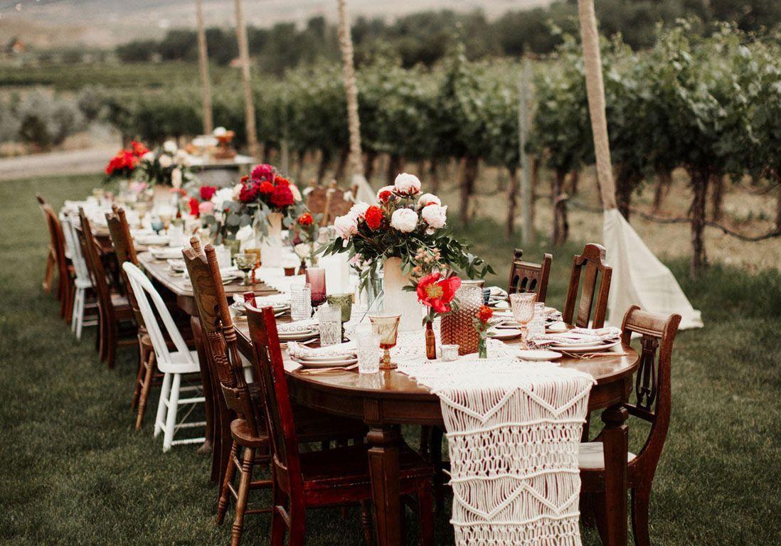 Table de mariage 35 id es d co dignes de ce grand jour elle d coration - Deco pour table de mariage ...