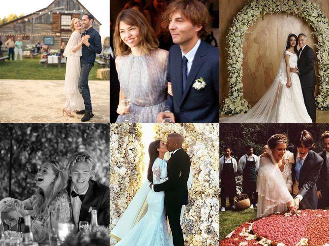 Mariages de stars : découvrez leur déco de fête