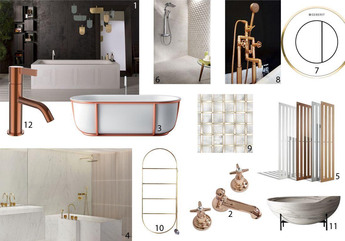 nouveautés salle de bains cuivre
