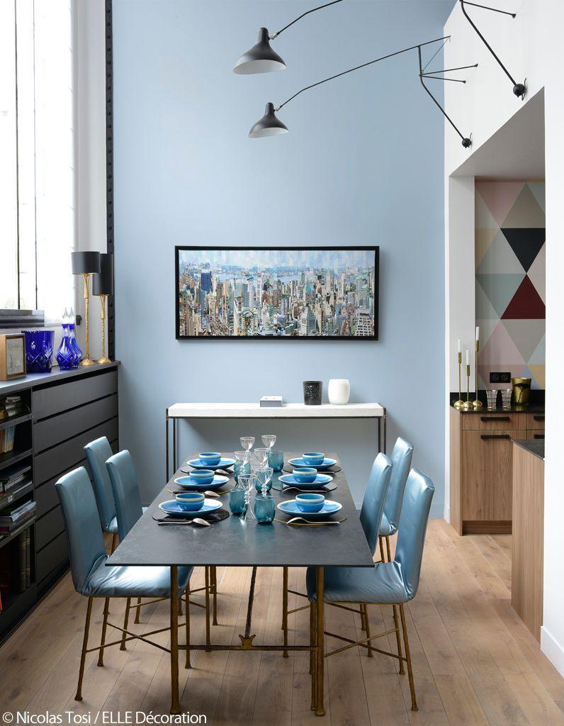 salle à manger bleue