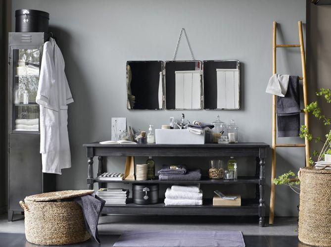 salle de bains r tro nos 5 conseils elle d coration. Black Bedroom Furniture Sets. Home Design Ideas