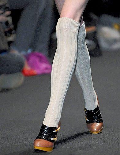 Mode tendance look shopping accessoires chaussettes hautes Yurkievich