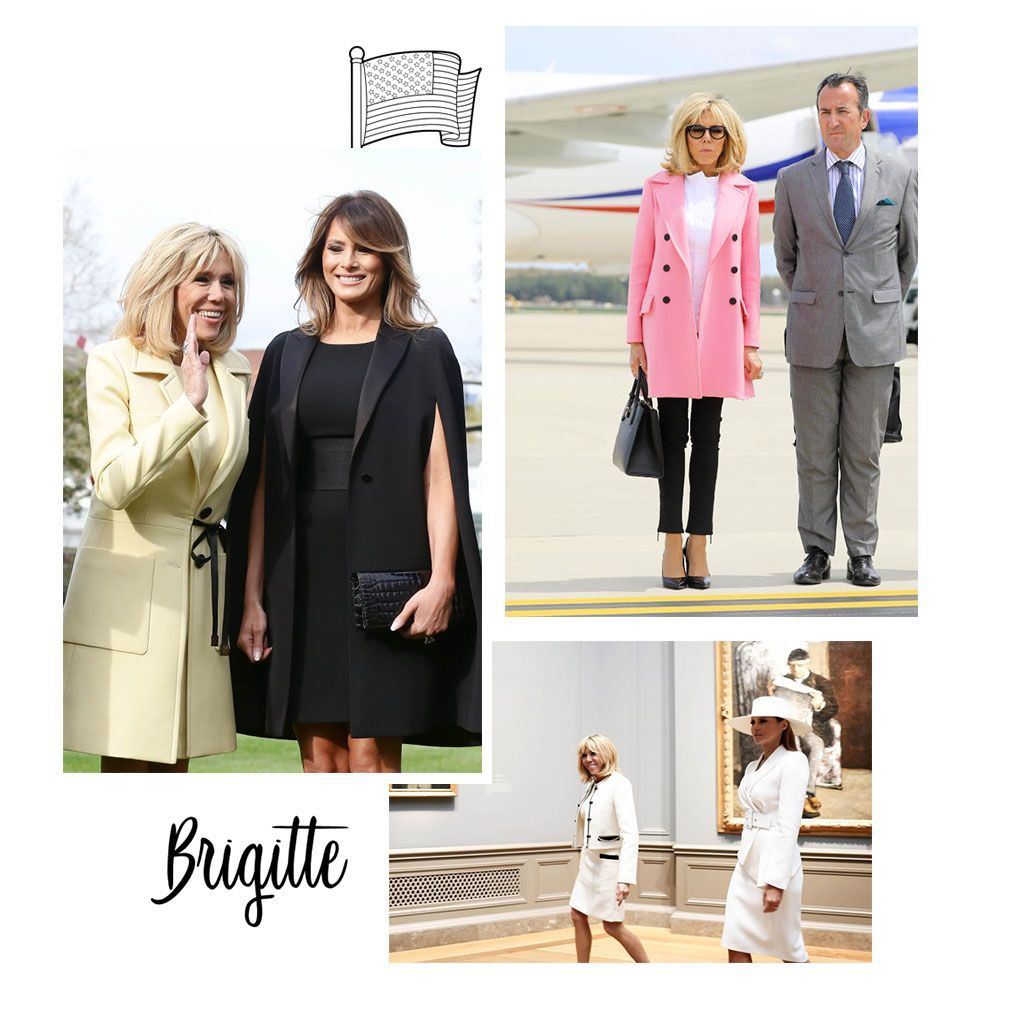 brigitte macron aux etats unis ses plus jolis looks elle. Black Bedroom Furniture Sets. Home Design Ideas