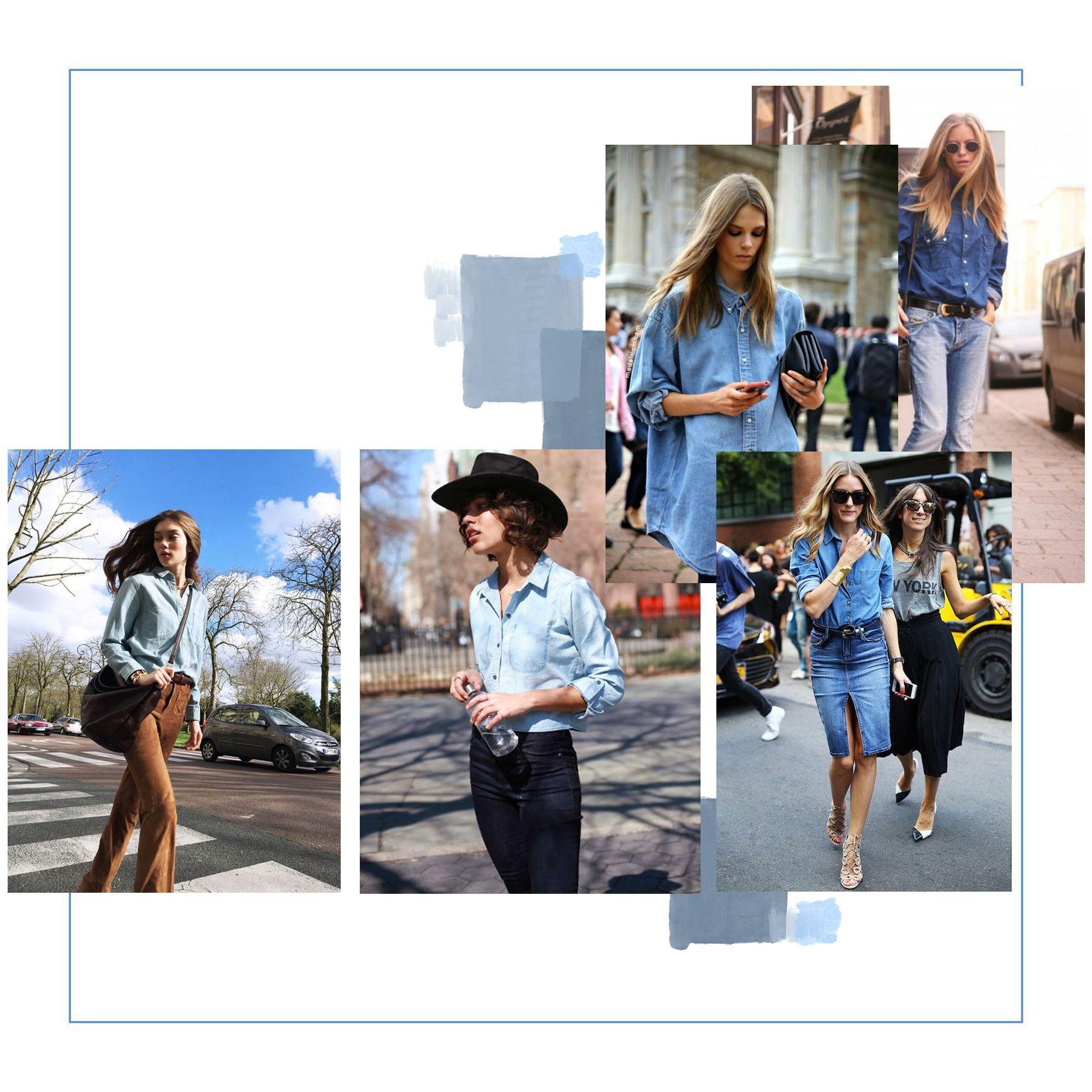 13 façons cool de porter la chemise en jean