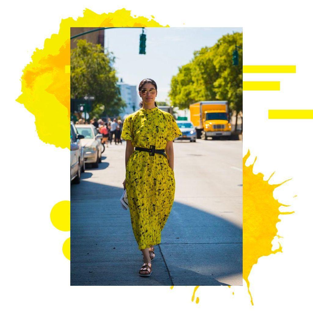 Solaire en robe jaune !