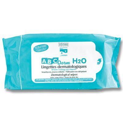 ABCDerm H2O lingettes dermatologiques