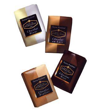 Savons parfumés au chocolat