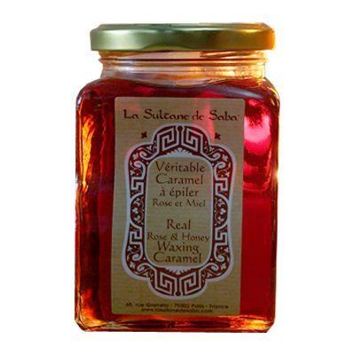 Véritable caramel à épiler rose et miel