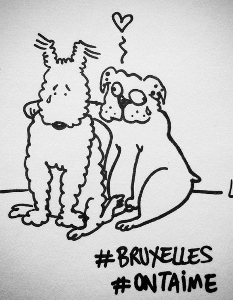 Attentats à Bruxelles : la solidarité en dessins